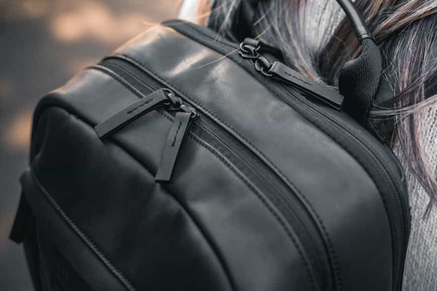 Two convenient and easily accessible top access points are provided on the Cecilia Humboldt 14L Backpack