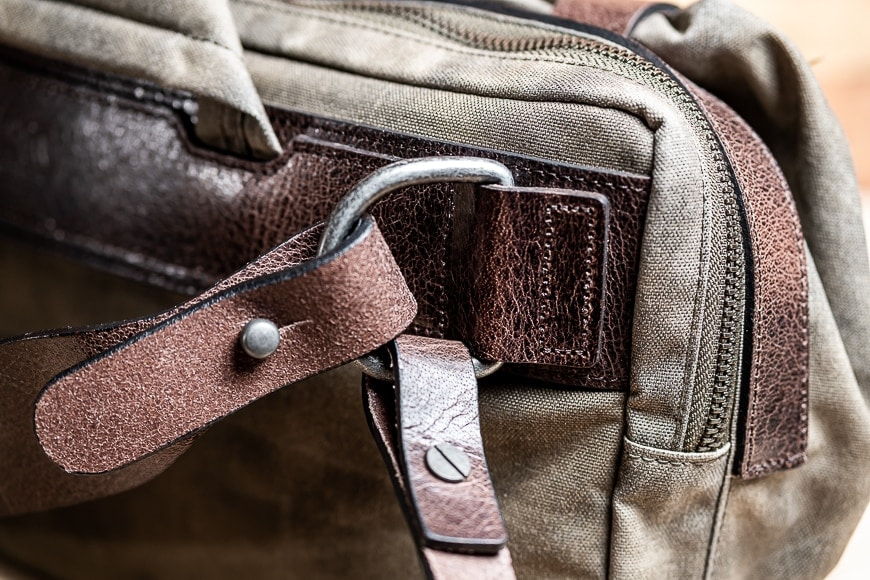 the wotancraft easy rider is built tough with robust thick leather straps and solid hardware