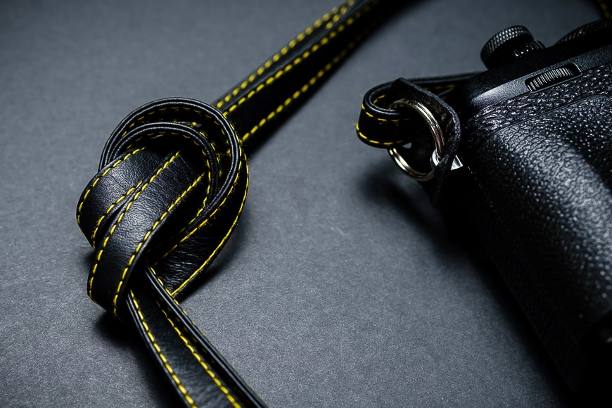 I like that I can tie the strap into a knot to reduce the length and use it as a wrist strap.