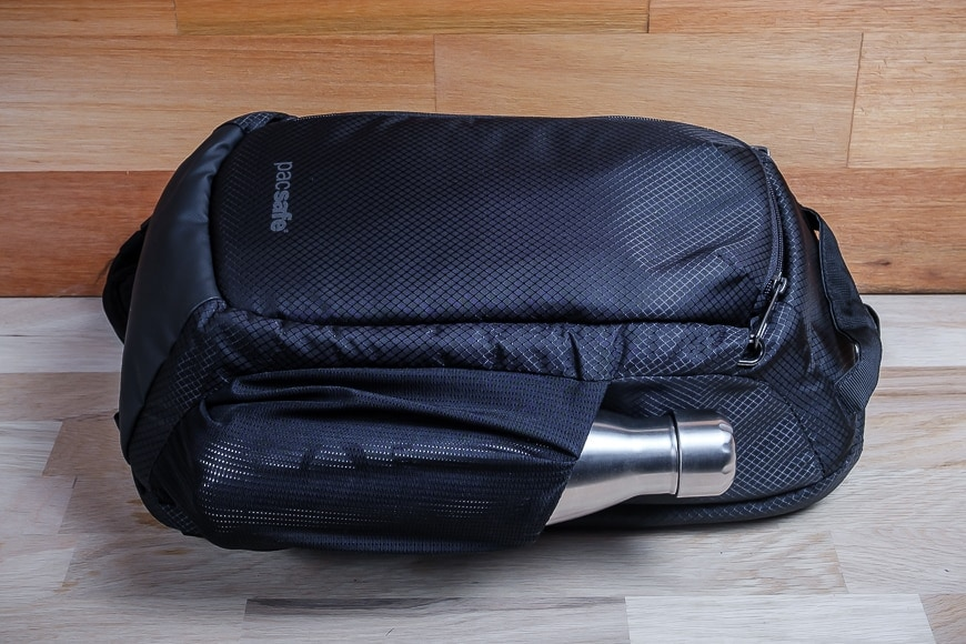 """The Pacsafe Camsafe X9 Sling is minimal and doesn't shout """"camera bag"""" to every thief in town!"""