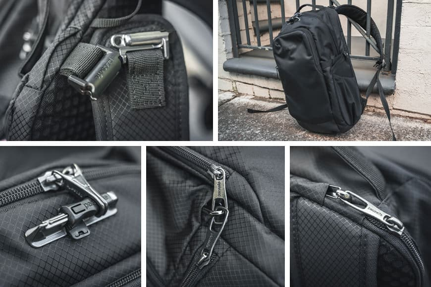 The Camsafe X17 Anti-Theft Camera Backpack features the PopNLock Security Clip, Roobar™ Sport locking system and lockable zippers.