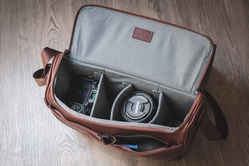 cecilia lambert camera bag review