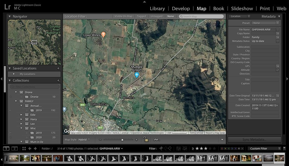 map module not available in Lightroom CC