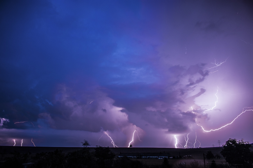 use a lightning trigger or cable release to capture lightning without leaving shutter open