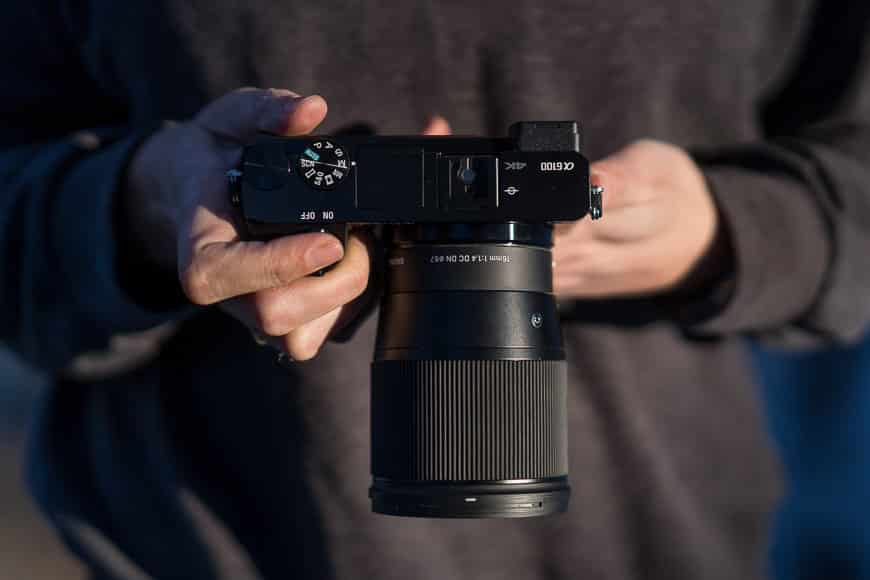 sony a6100 with the sigma 16mm f/1.4 lens