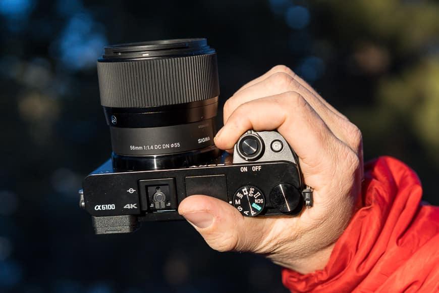 Sony a6100 + Sigma 56mm