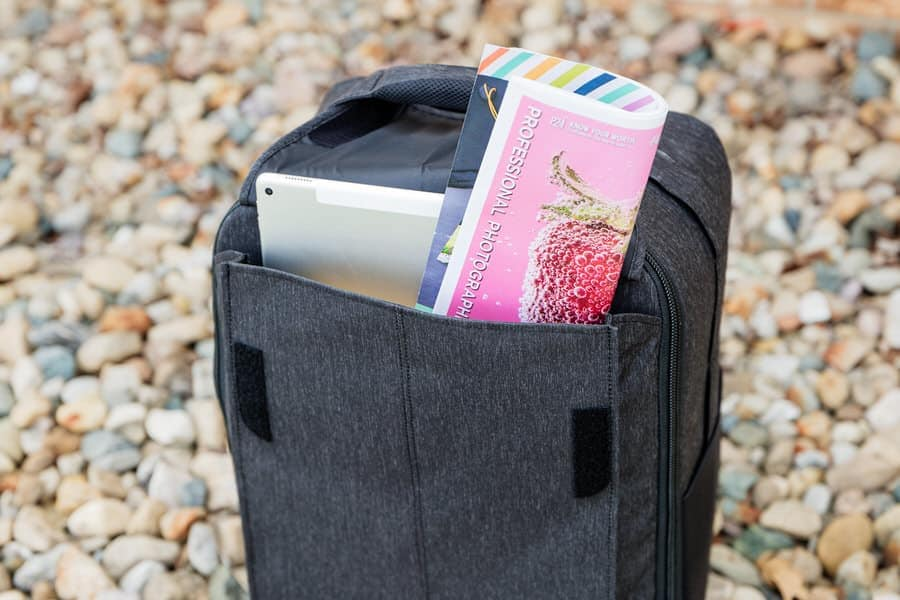 The front outside pocket is great for quick-access items.