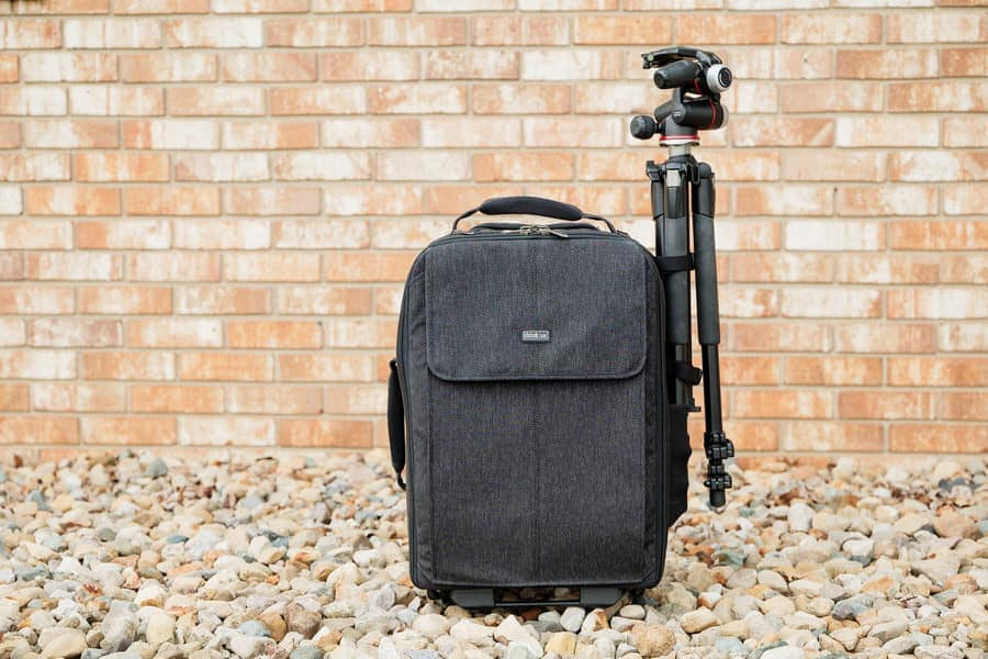 The ThinkTank Airport Advantage XT with tripod attached.