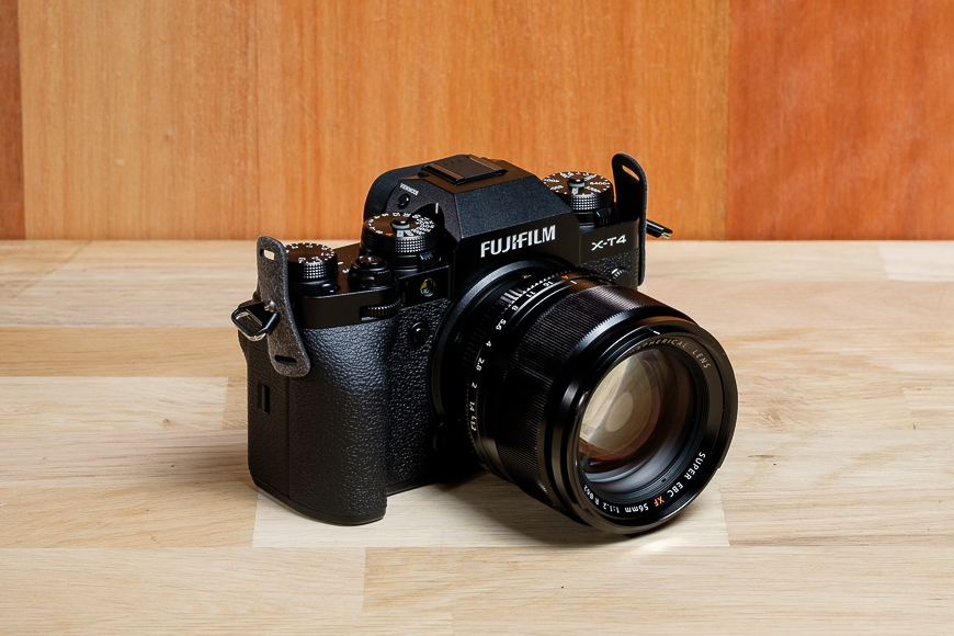 The Fujifilm X-T4 looks great even with an older XF 56mm f/1.2 lens attached.