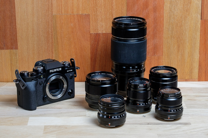 Fujifilm X-T4 and lenses