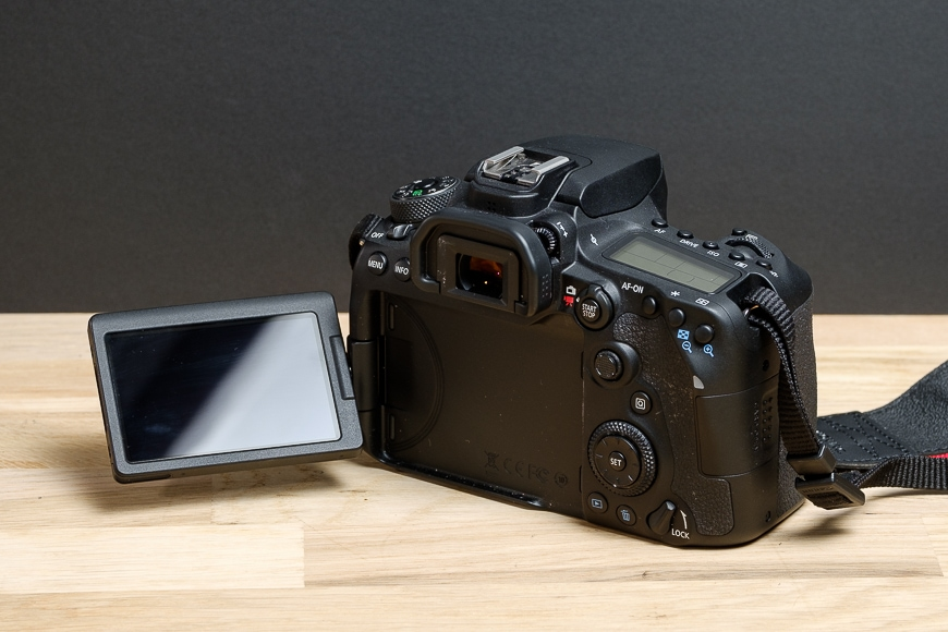 The Canon 90D features a rotating, flipping touch screen perfect for videography.