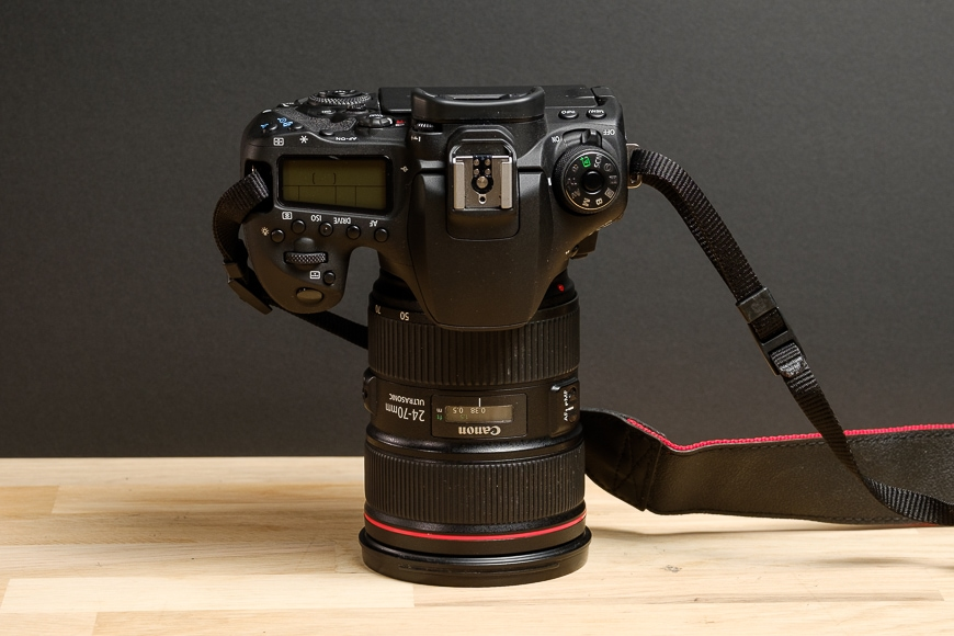 The Canon 90D with the Canon EF 24-70mm f/2.8 L Mark II would be great for travel.