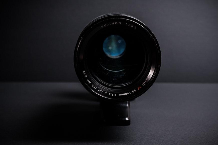 The Fujifilm XF 50-140mm f/2.8 has big beautiful glass.