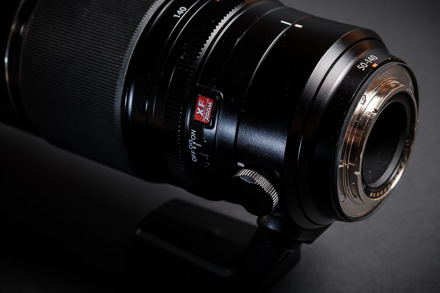 The Fujifilm XF 50-140mm f/2.8 has a full metal body that is also weather resistant. Note the XF Zoom red badge!