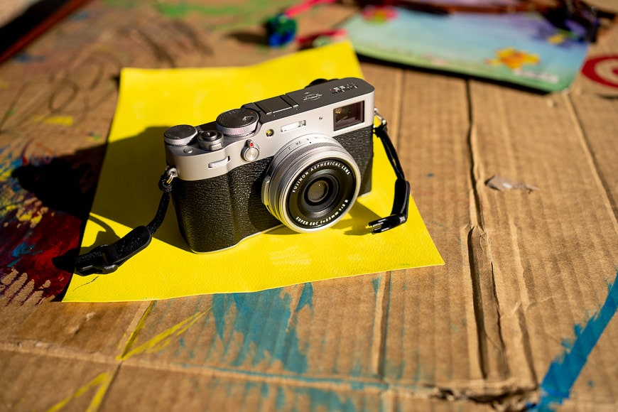 camera on paper