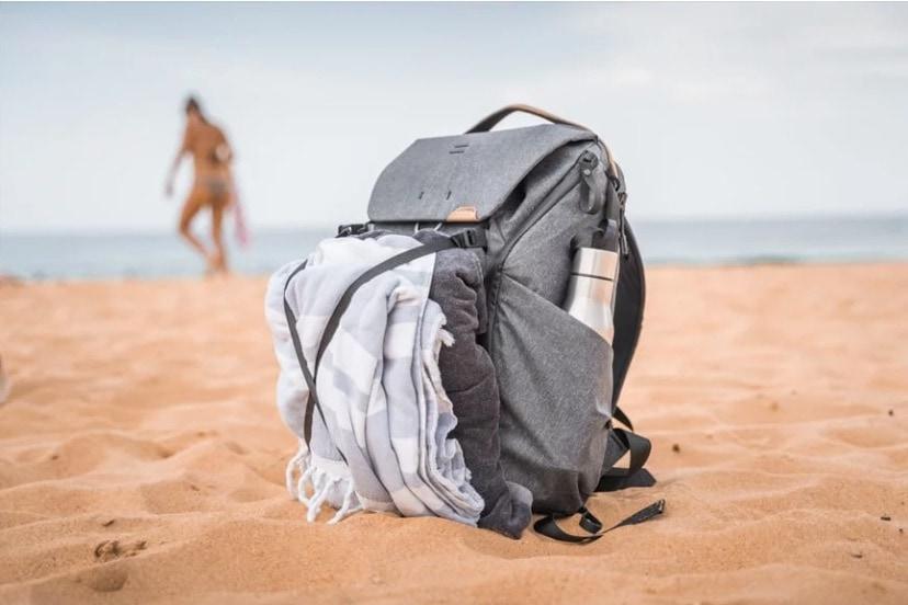 everyday backpack v2 on beach