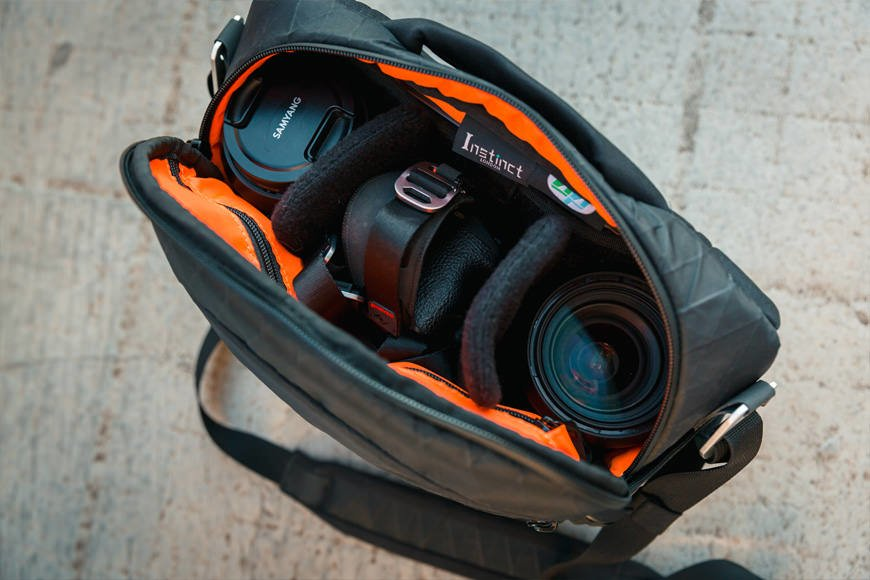 Load up your Mirrorless body and a couple of lenses in to the X-Pac Pro Camera Sling Bag, and still have more space for all the other little pieces you require.