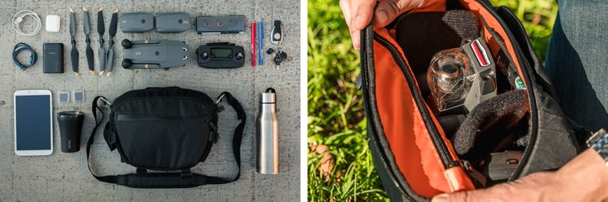 The Instinct X-Pac Pro Camera Sling Bag will easily fit the full DJI Mavic Pro kit plus plenty more items and accessories.