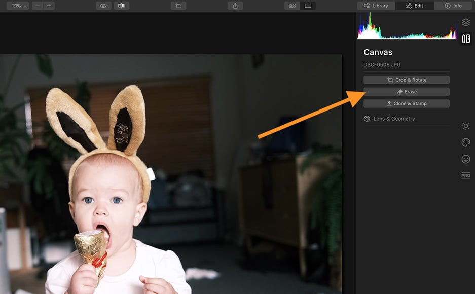 remove objects from photos - unwanted things using clone tool