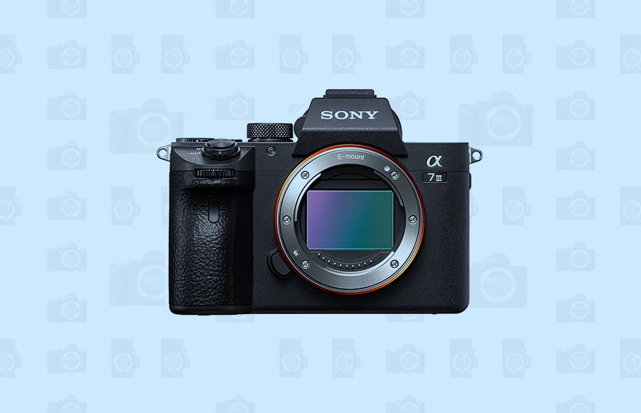 Sony a7 III full-frame mirrorless camera for quality photography and video with 24MP sensor, good dynamic range, eye af focus and smaller size.