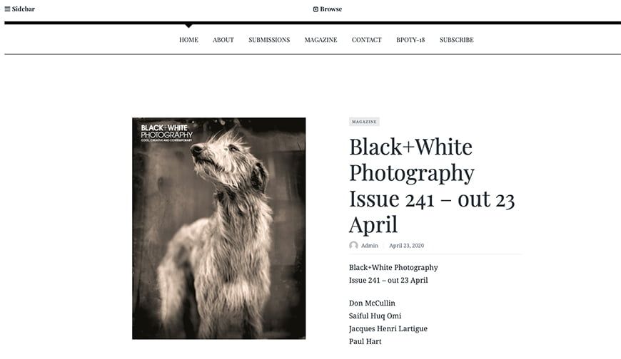 Best photography magazines: Black&White