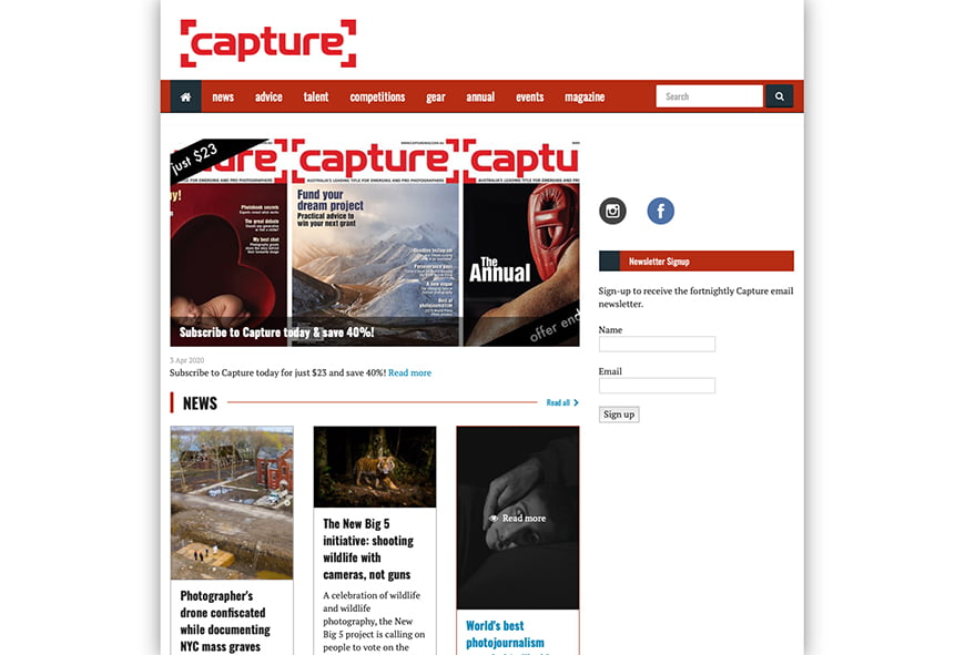 Capture is one of Australia's most popular photography magazines.
