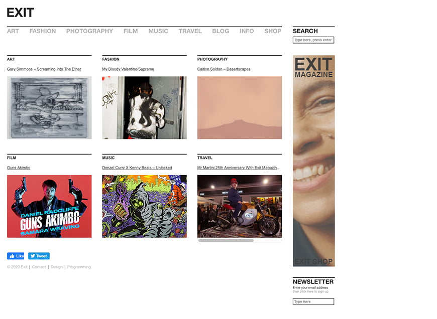 Best magazines for art photography: EXIT magazine.