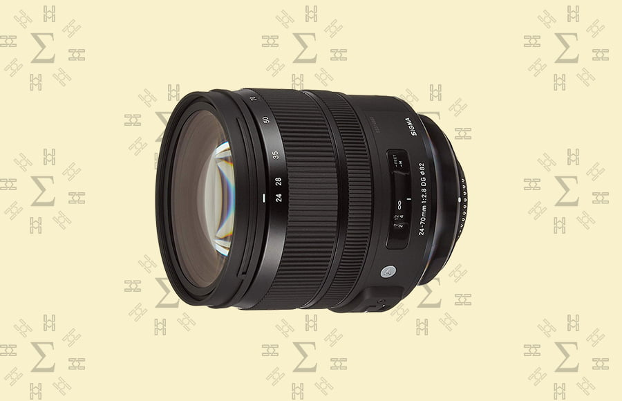 Sigma 24-70mm f/2.8 DG HSM Art - Best sigma lens for a Canon eos, Nikon or Sony camera with variable focal length and wide aperture.