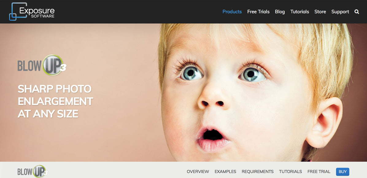 Blog Up 3 is a great tool for lossless photo enlargement