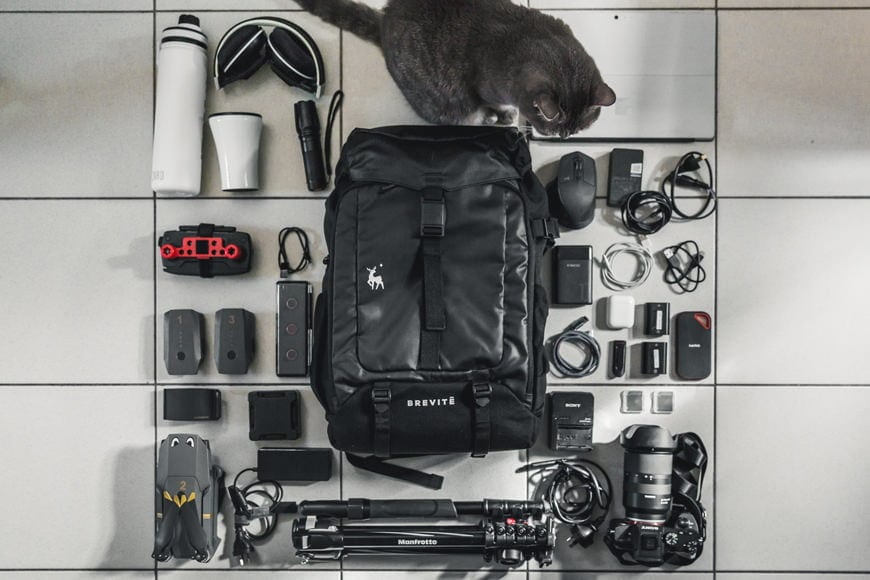 I couldn't fit the cat inside with everything else, but you'll be surprised just how much extra will fit that isn't pictured!