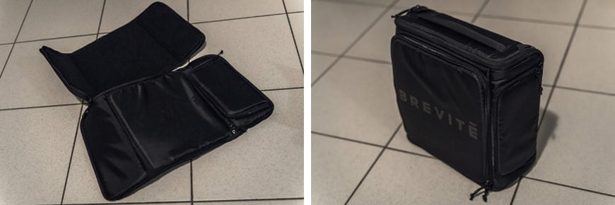 The Camera Insert II unzips completely flat when you don't need it, which is handy for storage!