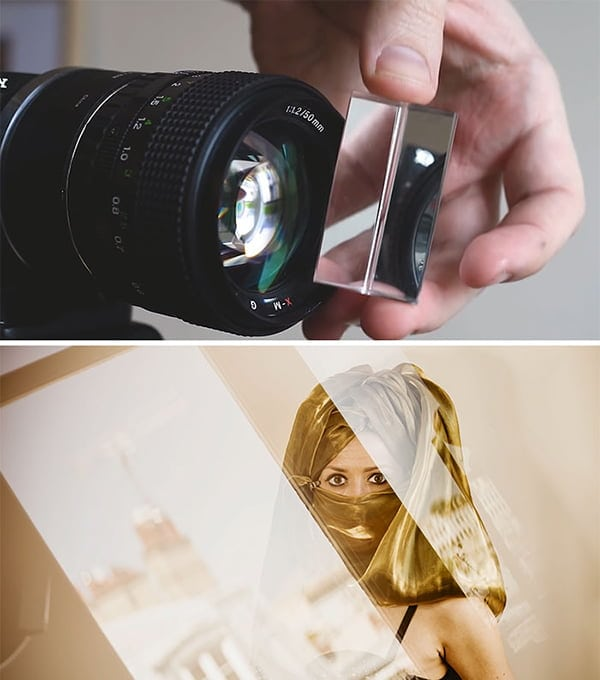 diy lens artefacts
