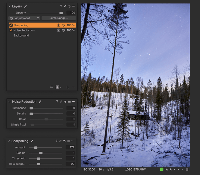 Fix grainy image and improve your photos using CaptureOne software