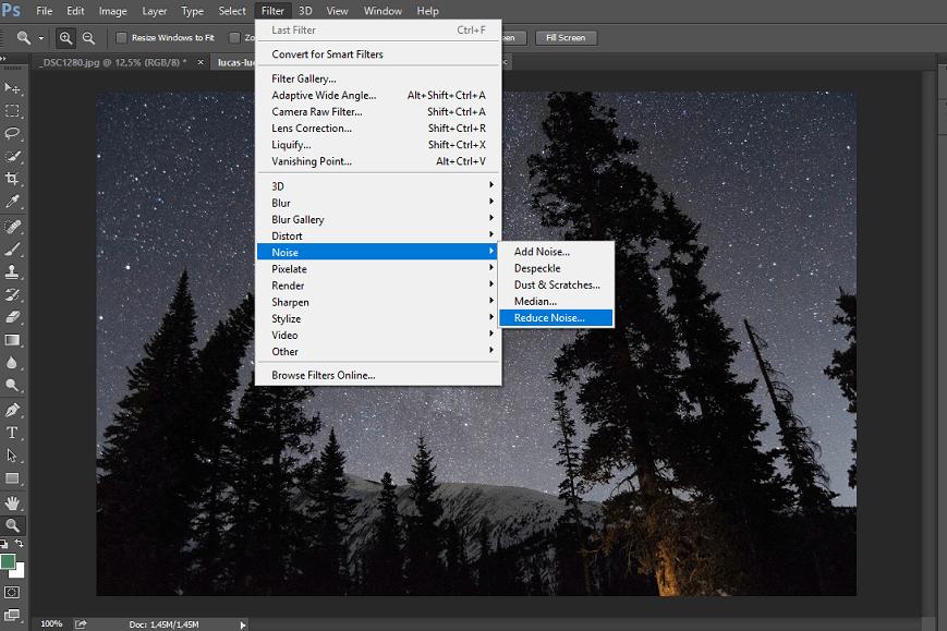 Photoshop reduce noise photoshop let's you fix grainy photos easily.