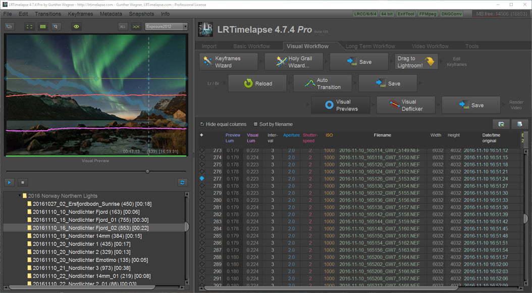 LRTimelapse Pro Lightroom plug in for photos
