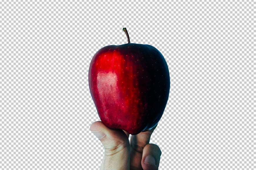 Cut out your subject by deleting the background.