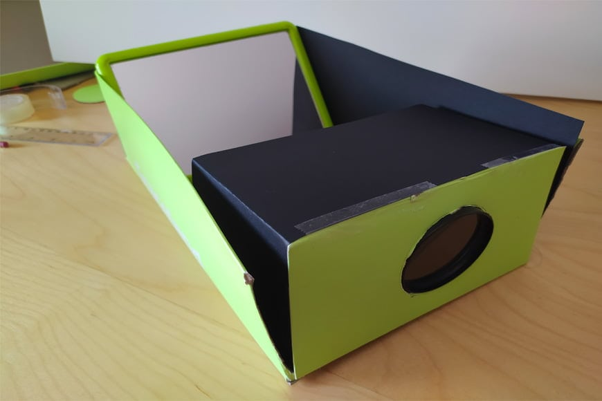 Building a phone projector using a shoebox can be a fun activity for kids.