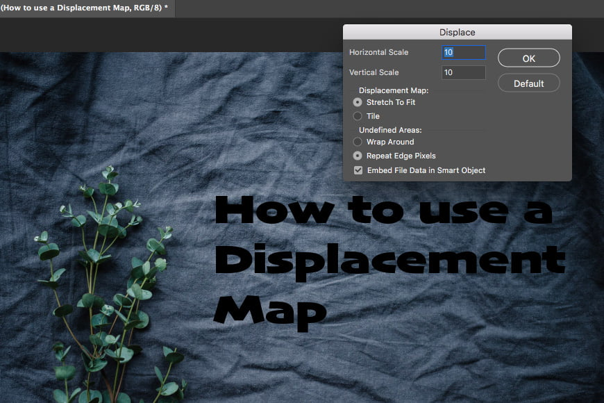 Go to filter distort displace to apply filter distort to your layer.
