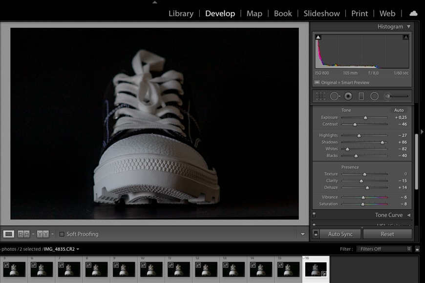 Process your images in Lightroom.