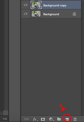 Adding photo editor blur - Duplicate background layer.