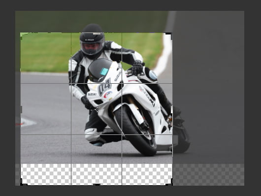 Using the radial blur radial filter sometimes requires repositioning of your image.