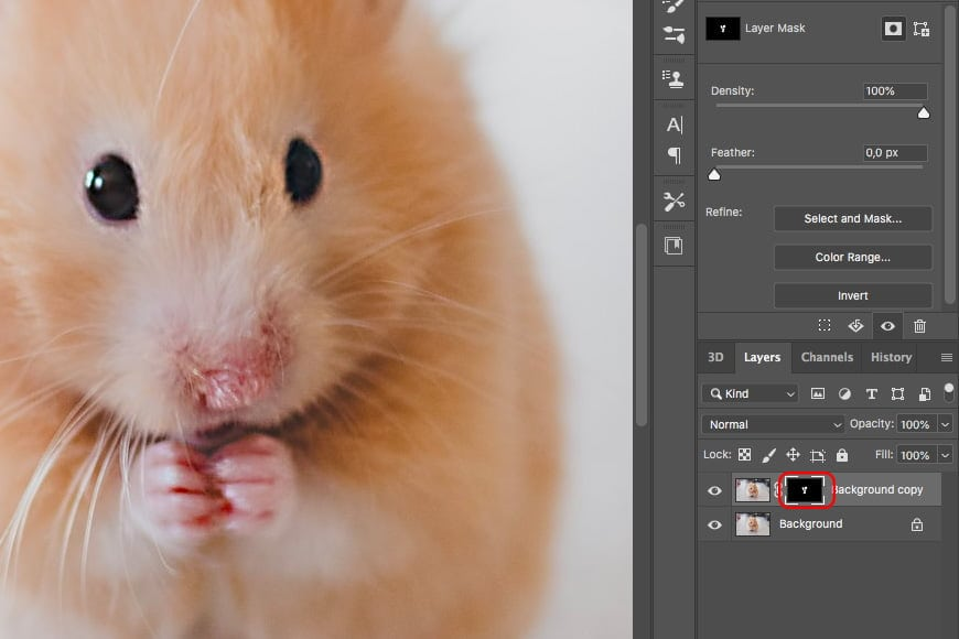 Change the opacity of the image layer or use a mask to adjust parts of the image. You can do this in the layers panel in Photoshop.