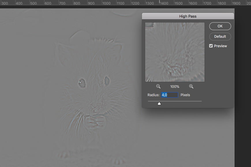 To edit blurry photo in Photoshop: You can sharpen an image by using the high pass image sharpening filter and adjusting the radius.