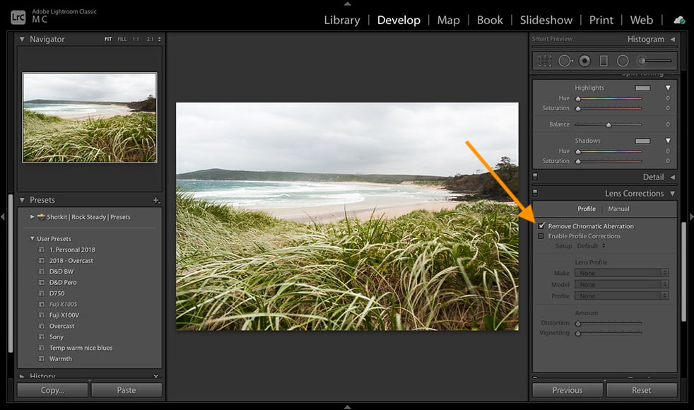 This is one of the optical issues that can be corrected with use of lightroom.