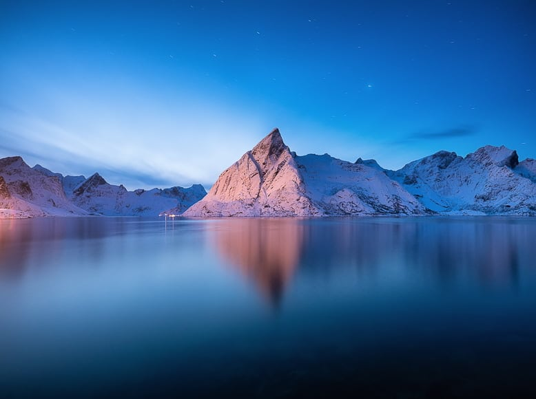 In photography blue hour creates stunning cool landscapes without any harsh sun.