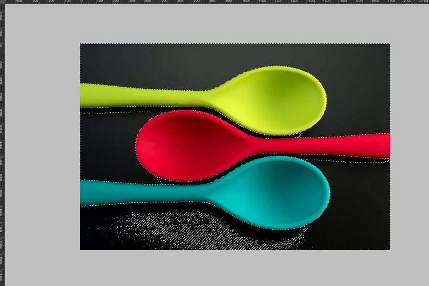 Tutorial in photoshop how to change background color –quick selection tool