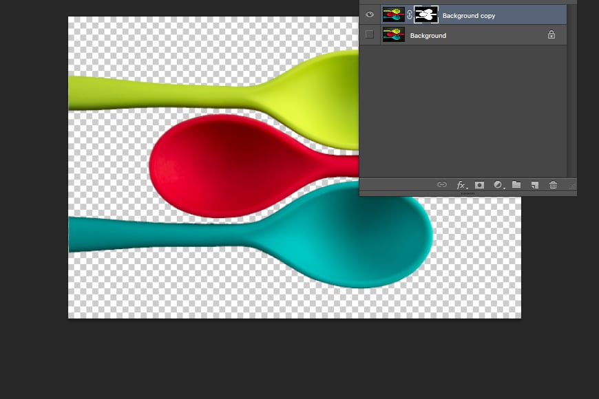Change background color in Photoshop - After using quick selection tool add a layer mask.