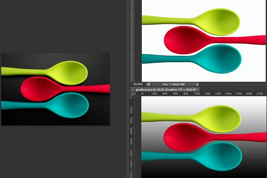 Change background color in Photoshop - Add new fill layer. Right click for drop down menu.