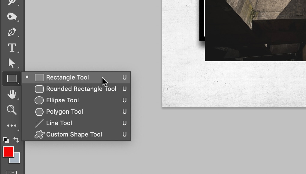 create a clipping mask in Photoshop using selection