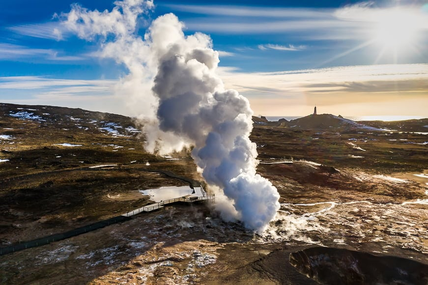 Gunnuhver Hot Springs is an active geothermal area of Iceland.